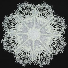 BFC0235 Lace Doily White Lace