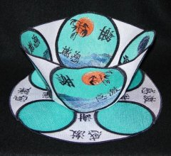 BFC0251 Scenic Bowl and Doily - Oriental Gratitude