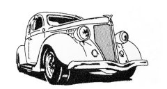 Blackwork Vintage Car no1