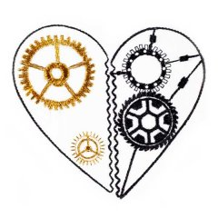 BFC31496 Steampunk Heart