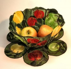 BFC0356 Lace Bowl & Doily Apple Harvest