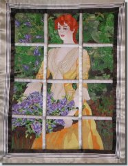 BFC0464 Window - Lady with Lilacs