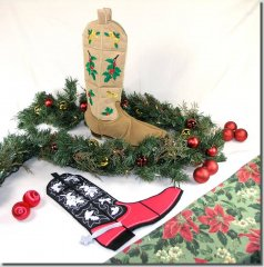 BFC0601 Quilt in the Hoop Christmas Stocking III