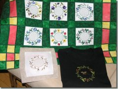 BFC0609 Quilt in the Hoop Floral Kit