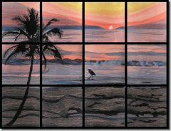 BFC0612 Window - Sunrise on a Florida Beach