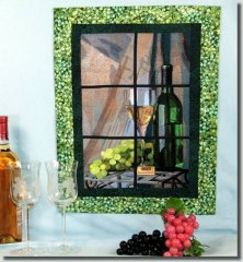 BFC0715 Window - Vintage Wine