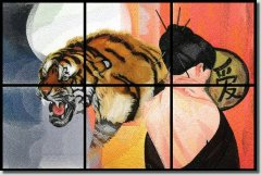 BFC0732 Window-Tiger Fantasy