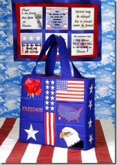 BFC0737 QIH US Freedom Tote Bag