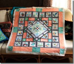BFC0751 Ancient Italian Tiles Quilt Blocks II