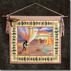BFC0759 QIH Kokopelli Wallhanging