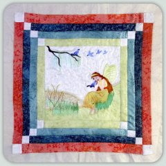 BFC0804 Block 7 of 12 Fairy Land Quilt - The Bluebird Fairy