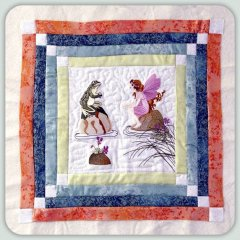 BFC0806 Block 8 of 12 Fairy Land Quilt - The Fairy and the Frog