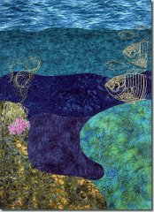 BFC0867 Art Quilt - Undersea Fantasy - Background