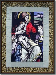 BFC0872 Stained Glass - Christ with Children