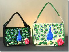BFC0873 Convertible Handbag Series A Proud Peacock