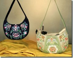 BFC0877 Convertible Handbag Series B Brocaded Hobo