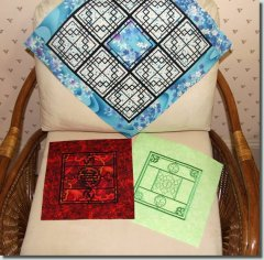 BFC0901 Chinese Lattice Quilt Squares QIH and Regular