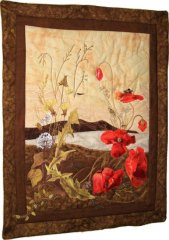 BFC0935 Art Quilt Princess Ka'iulani's Poppies