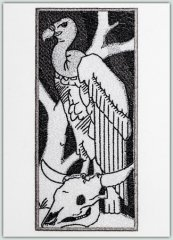 SA Architectural Etchings -White Backed Vulture