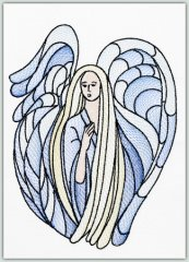 Stained Glass Angel 1