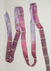 Fuschia/lavender Metallic Ribbon