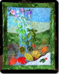 BFC1011 Waterfall of the Leaves Art Quilt