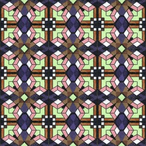 BFC1026 Stained Glass Tiles III