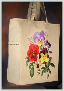 BFC1058 Pansy Super Tote