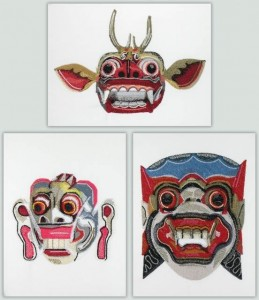 BFC1090 Three Balinese Dance Masks