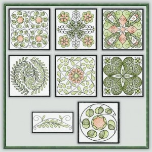 BFC1109 QIH or Reg Sheer Quilt Blocks I