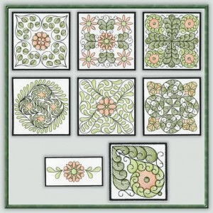 BFC1110 QIH or Reg Sheer Quilt Blocks II