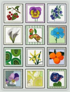 BFC1161 QIH-Fruit and Flower Quilt Blocks