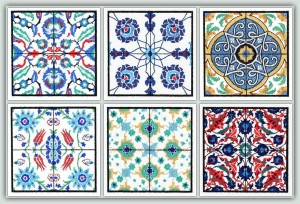 BFC1214 QIH Turkish Tile Squares Thread Kit