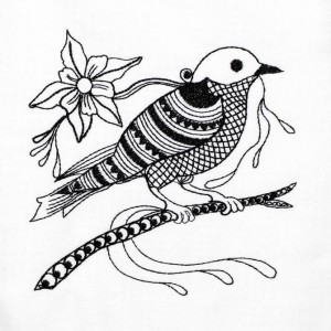 BFC1217 Blackwork Birds 10