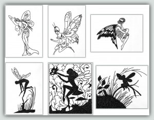 BFC1242 Blackwork Fairies