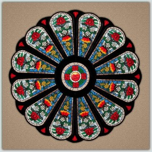 BFC1243 Waratah Rose Window Thread Kit