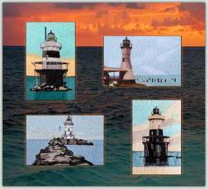BFC1286 Vintage Lighthouse Postcards