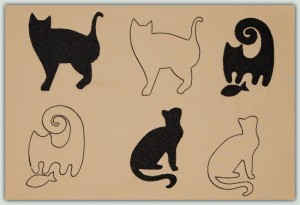 BFC1343 Cats-Outlines and Silhouettes