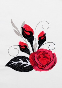 Red Roses - Black Scrolls 2