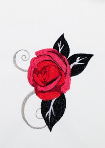 Red Roses - Black Scrolls 6