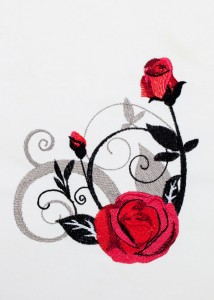 Red Roses - Black Scrolls 8