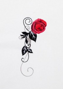 Red Roses - Black Scrolls 12