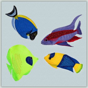 BFC1368 Four Tropical Fish