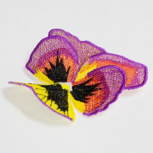 BFC1450 FSL Yellow and Purple Pansy