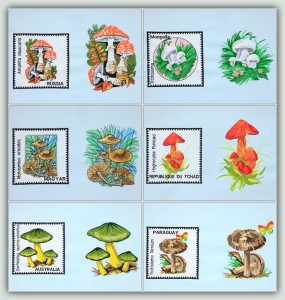 BFC1455 Vintage Mushroom Stamps Thread Kit