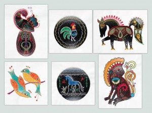 BFC1547 Folk Art Animals