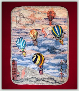 BFC1569 Art Quilt - Steampunk Skies