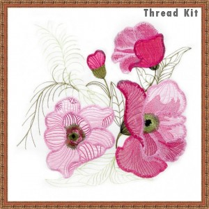 BFC1573 Large Floral Applique Thread Kit