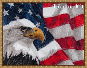 BFC1574 Large Eagle with American Flag Thread Kit