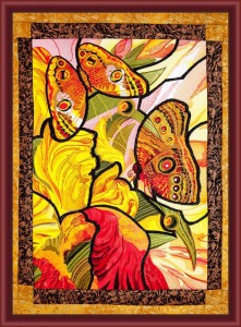 BFC1601 Stained Glass Eye Spot Butterflies